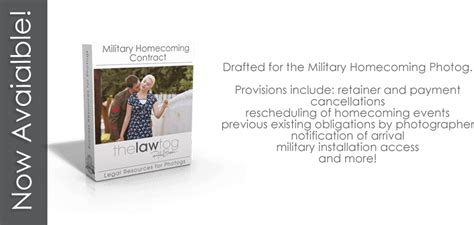 military homecoming photography contract