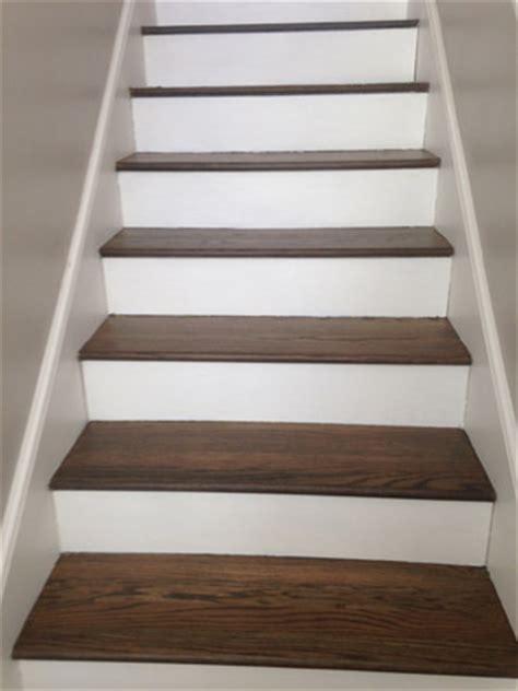 New European White Oak wood floors and Stair Tread Refinishing