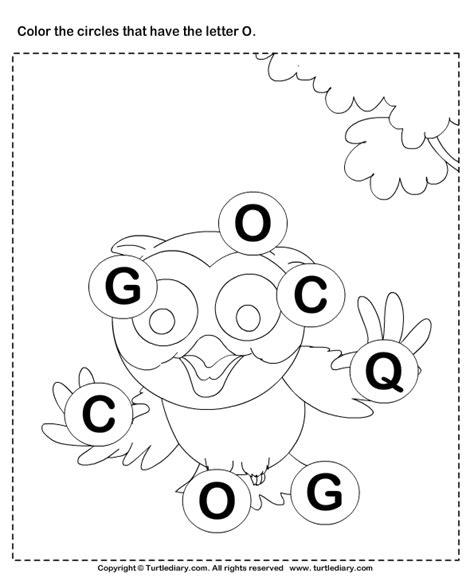Identifying Letter O Worksheet  Turtle Diary