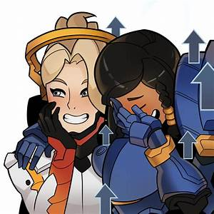 Overwatch Mercy And Pharah Girls Laughing Know Your Meme