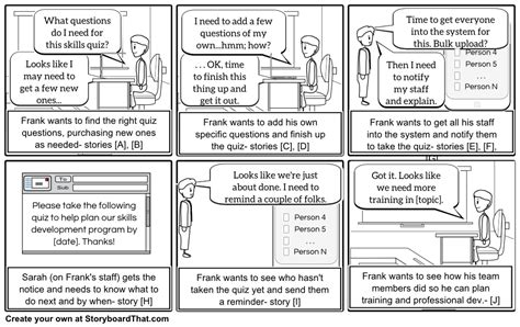 storyboards  energize  agile user stories