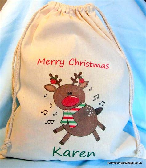 personalised santa sack rocking reindeer