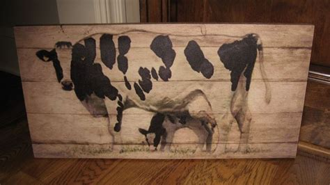 black  calf canvas wall picturefarmhouse primitive