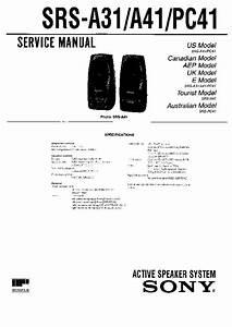 Sony Srs-a31  Srs-a41  Srs-pc41 Service Manual