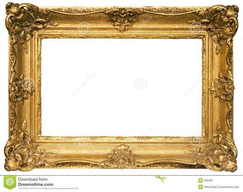 cadre de tableau en bois plaqu 233 par or avec le chemin photographie stock libre de droits image