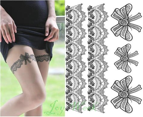 waterproof temporary tattoo sticker sexy lace flowers