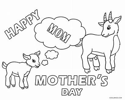 Coloring Pages Mothers Mother Happy Printable Cool2bkids