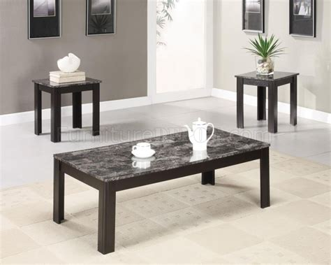 From triangular to round, from tall and thin to short and chunky, from stacking to wheeled, there will be a coffee table that works for your home decor. Marble-Like Top & Black Finish Modern 3Pc Coffee Table Set