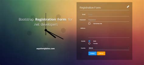 aspnet registration form templates designerslibcom