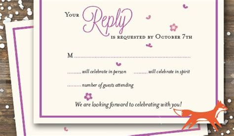 wedding rsvp wedding rsvp wording ideas and format 2017 edition rsvpify
