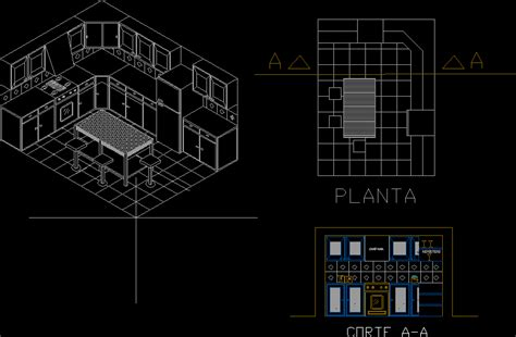 kitchen  dwg section  autocad designs cad