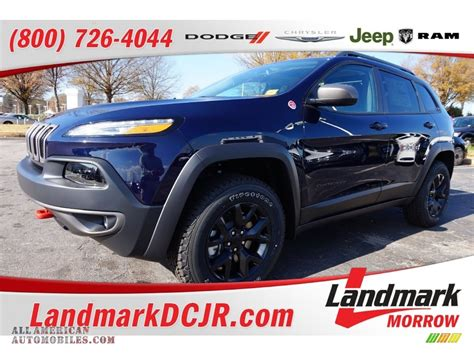 jeep cherokee trailhawk black rims 2016 jeep cherokee trailhawk 4x4 in true blue pearl photo