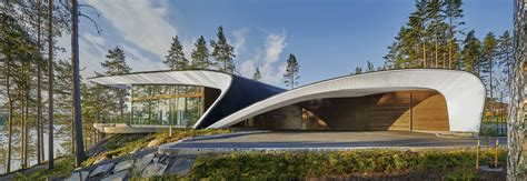 wave house   futuristic finnish home