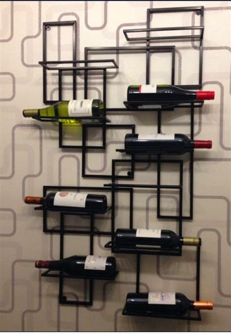 strong square wall wine rack