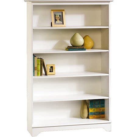 walmart bookshelf white sauder o sullivan falls 5 shelf bookcase white