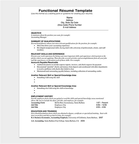 Creating A Resume For Free by Functional Resume Template 14 Free Sles Exles
