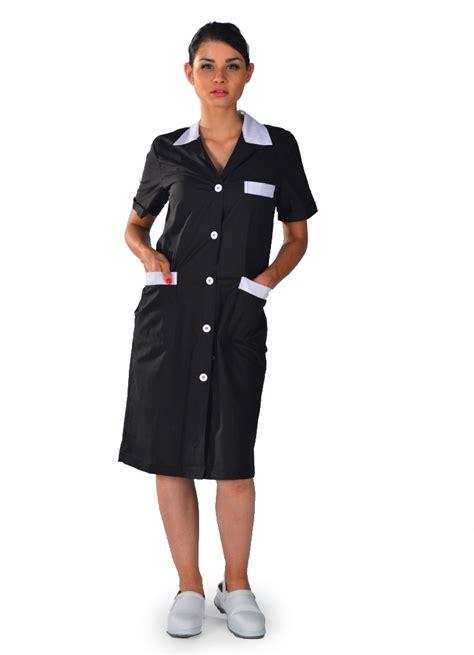 Blouse De Travail Noire Pour Femme  Blouses Femme De Chambre