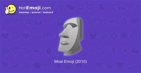 moai emoji meaning  pictures