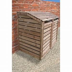 Cache Poubelle Brico Depot : cache poubelle en bois autoclav double 150x90x120cm ~ Dailycaller-alerts.com Idées de Décoration