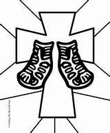 Coloring God Armor Peace Sandals Bible Word Lesson Gospel Evangelio Preschool Calzados Pies Apresto Lessons Crafting Sheets Popular sketch template