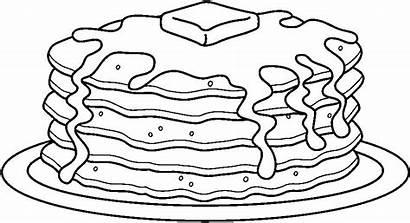 Pancake Coloring Colouring Cake Birthday Pancakes Preschoolactivities