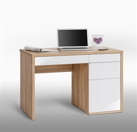 oak computer desk with drawers emma4 tv sideboard with 2 doors 1 drawer in oaktree white