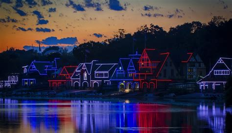 Boathouse Row by See A Light Show At Boathouse Row During A Free Festival