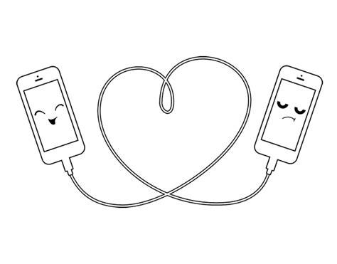 Dibujo de Amor móvil para colorear Fanarts y Dibujos