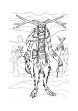 Monster Skinwalker Coloring Ausmalbilder sketch template