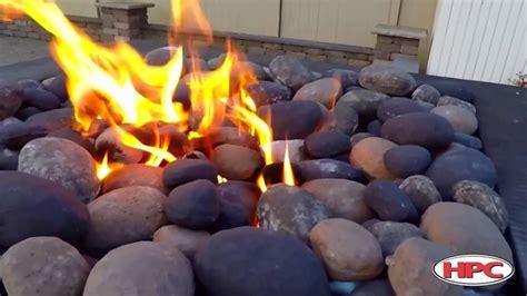 gas pit rocks outdoor pit ceramic river rock 3737