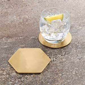 Brass, Gold, Drinks, Coaster, By, Pushka, Home