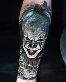 tattoos designs pennywise it best design ideas