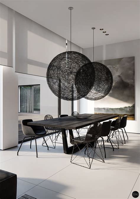 Black Dining Room Set And Interior Design Ideas Photos by Find Modern And Minimalist Dining Room Designs With