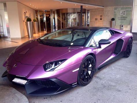 lamborghini dark purple unique purple lamborghini aventador 50th anniversario in