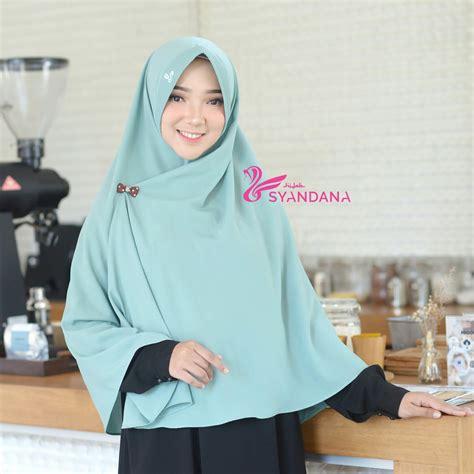 jual jilbab bergo syari gosya teal hijab syandana