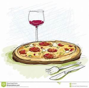 Rest Im Glas : pizza mahlzeit im restaurant stock abbildung illustration von glas gedient 42745479 ~ Orissabook.com Haus und Dekorationen