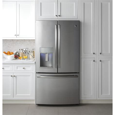cabinet depth refrigerator pye22kskss ge profile 36 quot 22 2 cu ft counter depth