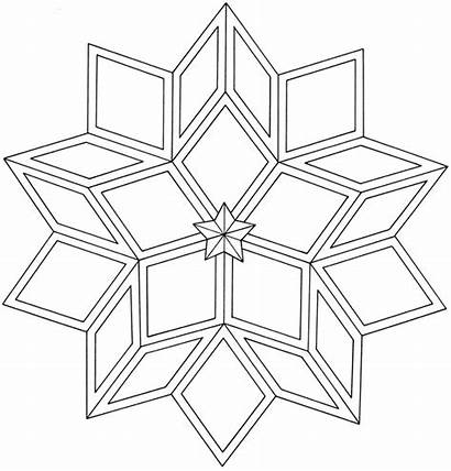 Coloring Star Pages Tattoo Geometric Designs Haven