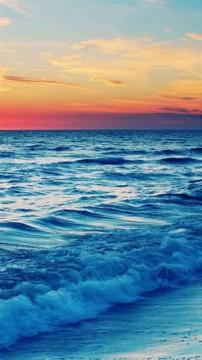 Ocean Phone Iphone Wave Wallpapers Beach Sea