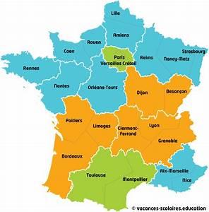 Vacances Scolaires Corse 2016 : carte des zones scolaires en france carte vacances scolaires en france ~ Melissatoandfro.com Idées de Décoration