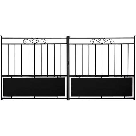portail coulissant acier balisarde noir l 300 x h 133 cm leroy merlin