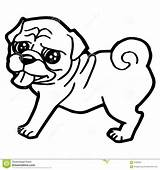 Coloring Dog Cartoon Pages Pug Funny Drawing Puppy Outline Vector Illustration Whippet Sheet Husky Printable Greyhound Puppies Consequences Pals Getcolorings sketch template