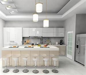 Jisheng white gloss kitchen cabinet-designs idea daban kitchen