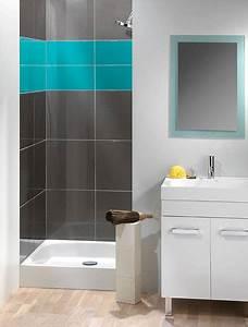salle de bain carrelage 2 couleurs With salle de bain 2 couleurs