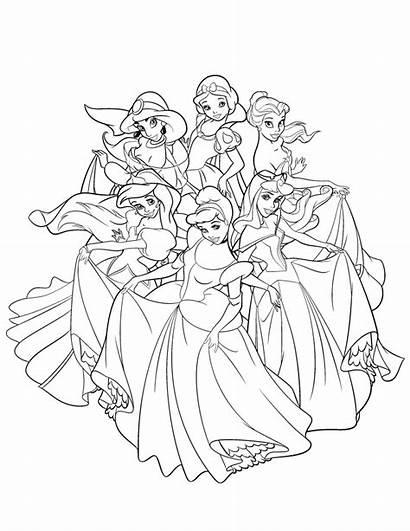 Coloring Princess Disney Pages
