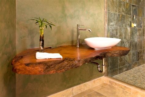 Bathroom Vanities Seattle by Open Shower Amp Floating Wood Counter Asian Bathroom