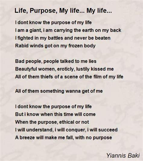 life purpose  life  life poem  yiannis baki