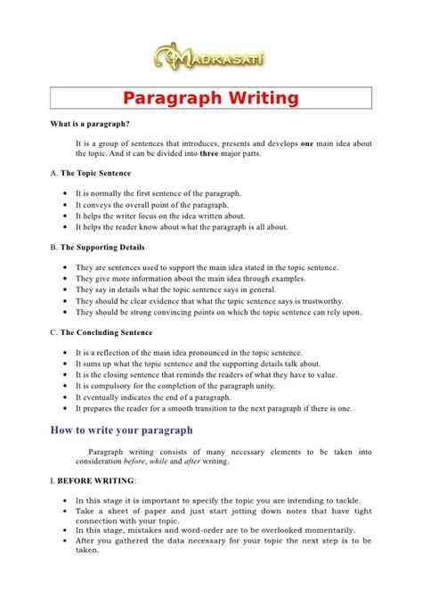 391505 Paragraphwriting