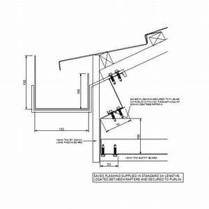 Cad Detail Of Gutter At Roof Eaves - Cadblocksfree