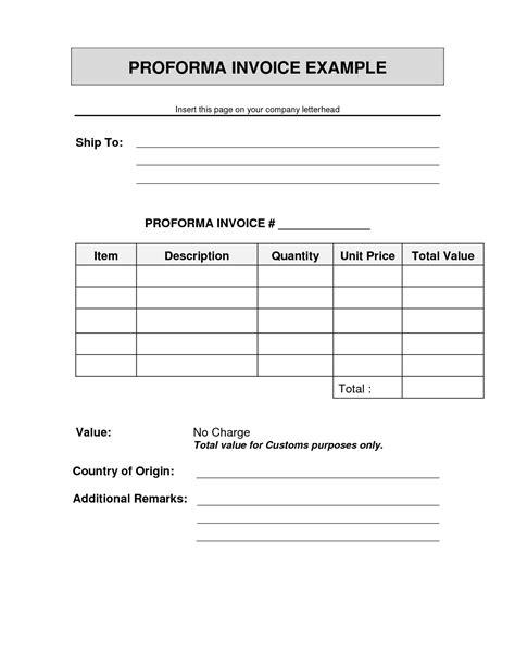 Cv Proforma Word by Invoice Proforma Sle Sle Shipping Invoice